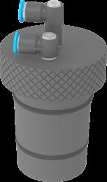 Stopper for foam cylinder