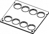 Cover with 8 holes and lids diameter 51mm for TV4000(LT)/TV7000(LT)